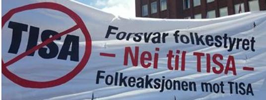 Kystpartiet i Rogaland sendte skriv 5. April 2016 til Stortinget og Regjeringa med krav om at dei skal bryta ut av TISA forhandlingane og gå imot denne avtalen.