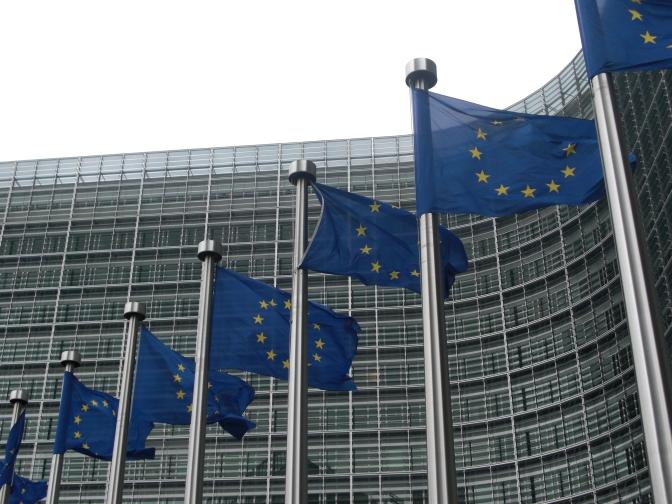 Flagg utanfor EU-kommisjonen